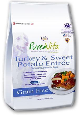 Pure Vita Turkey & Sweet Potato Entree Grain Free 2,3kg