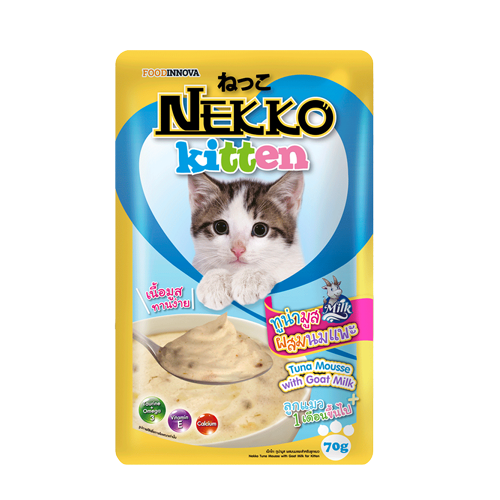 Pate Nekko Kitten Tuna Mousse with Goat Milk 70g