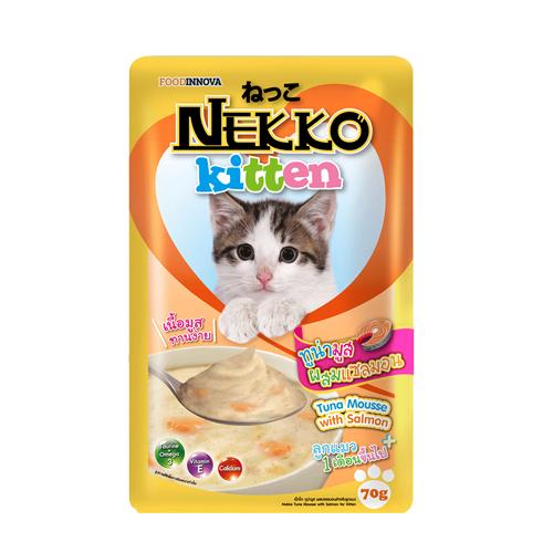 Pate Nekko Kitten Tuna Mousse with Salmon 70g