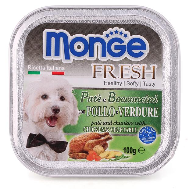 Pate Monge vị gà và rau 100g