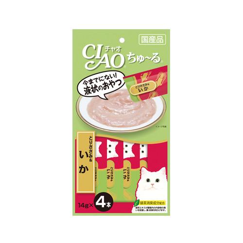 CIAO Cat Snack Churu Chicken Fillet & Squid 14g
