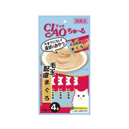 CIAO Cat Snack Churu Tuna Hairball Control 14g
