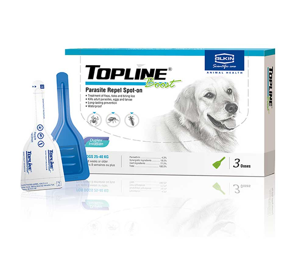 Thuốc nhỏ giọt diệt ve, bọ chét Topline chó 25-40kg