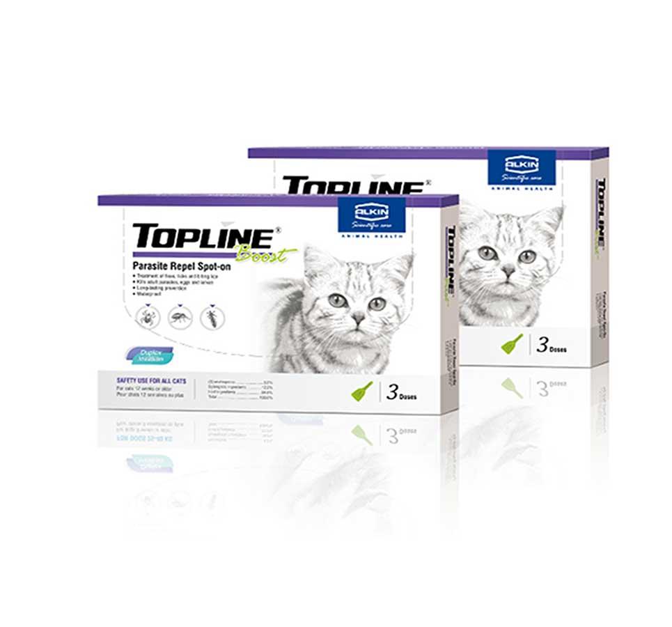 Thuốc nhỏ giọt diệt ve, bọ chét Topline cho mèo
