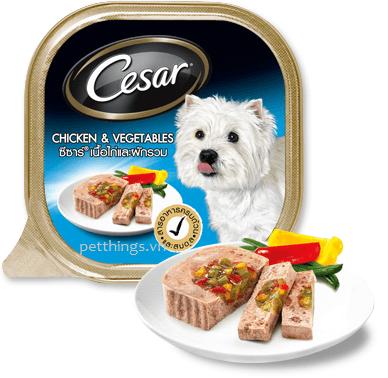 Pate Cesar vị thịt gà và rau củ 100g