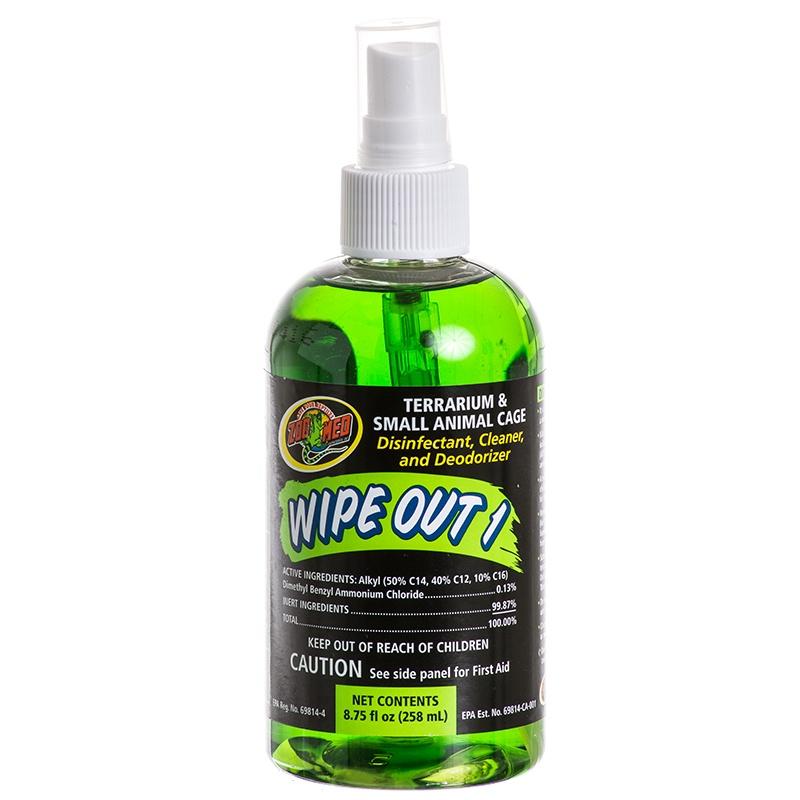 Xịt khử trùng và làm sạch chuồng bò sát Wipe Out 258ml