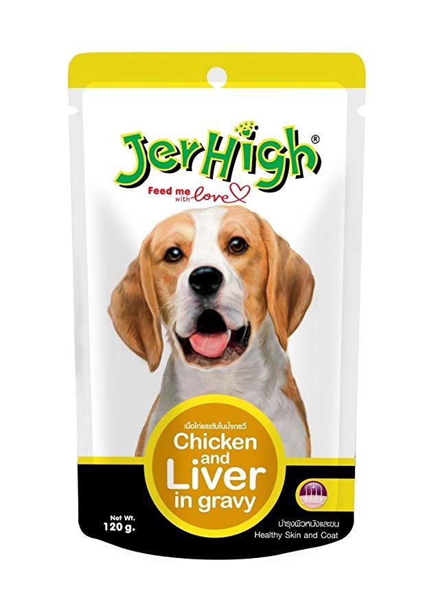 Pate Jerhigh vị thịt gà, gan và nước sốt 120g