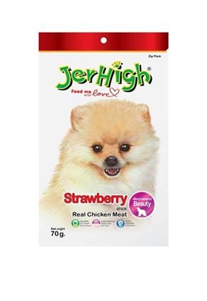 Snack Jerhigh cho chó vị dâu 70g