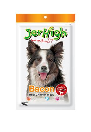 Snack Jerhigh cho chó vị thịt xông khói 70g