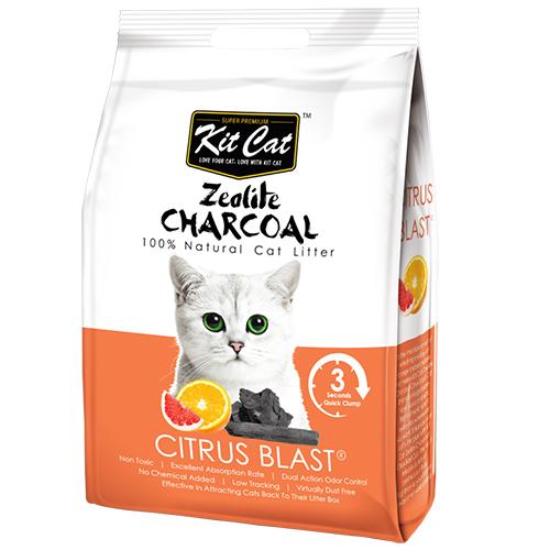 Cát vệ sinh cho mèo Kit Cat than hoạt tính 4kg