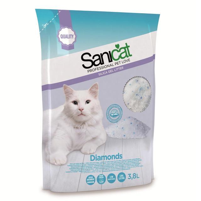 Cát vệ sinh cho mèo Sanicat thuỷ tinh Diamonds 15L