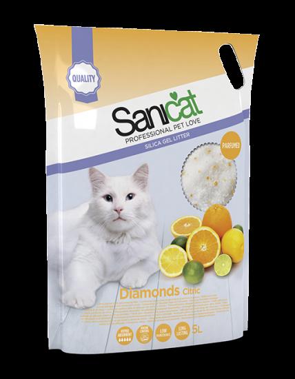 Cát vệ sinh cho mèo Sanicat thuỷ tinh Citric 5L