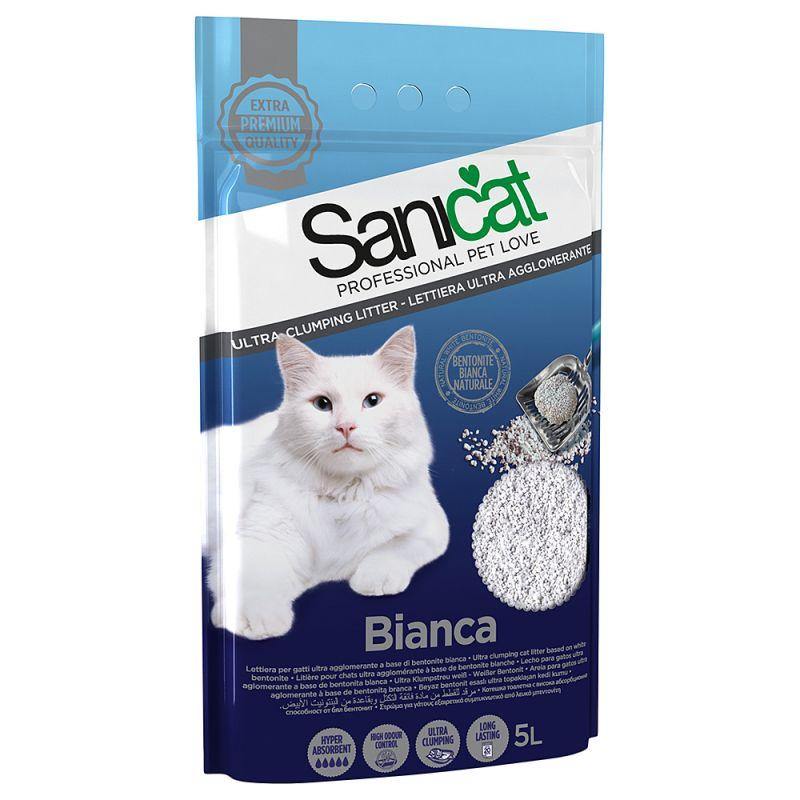 Cát vệ sinh cho mèo Sanicat dạng sỏi Bianca 5L