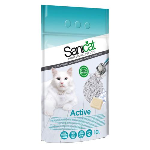 Cát vệ sinh cho mèo Sanicat dạng sỏi active 10L