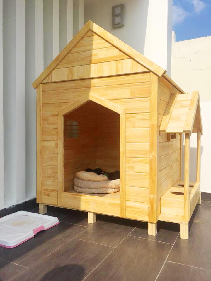 Nhà gỗ cho chó mèo lớn