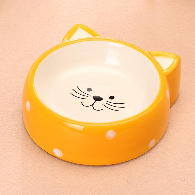 Chén ăn bằng sứ Elite hình mặt mèo