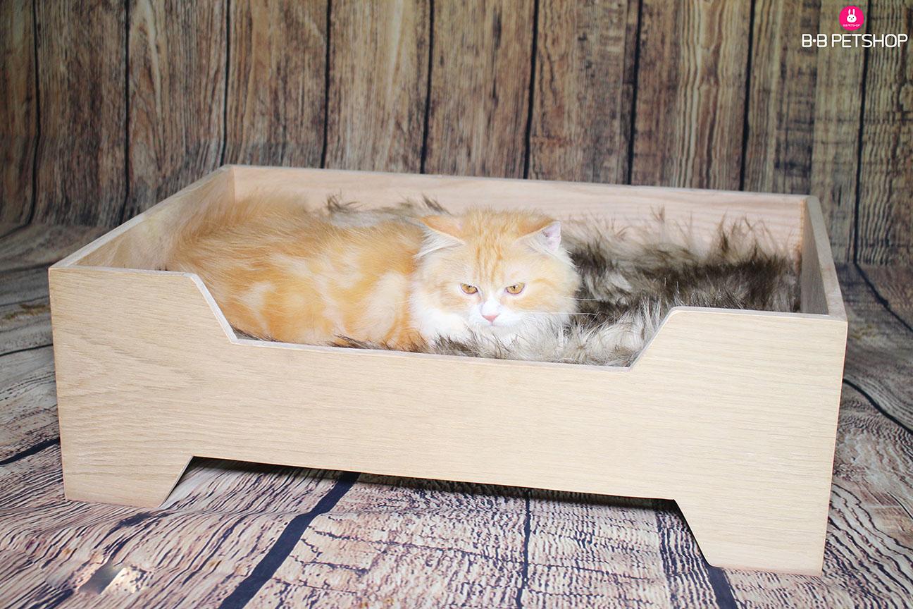 Giường ngủ bằng gỗ cho chó mèo