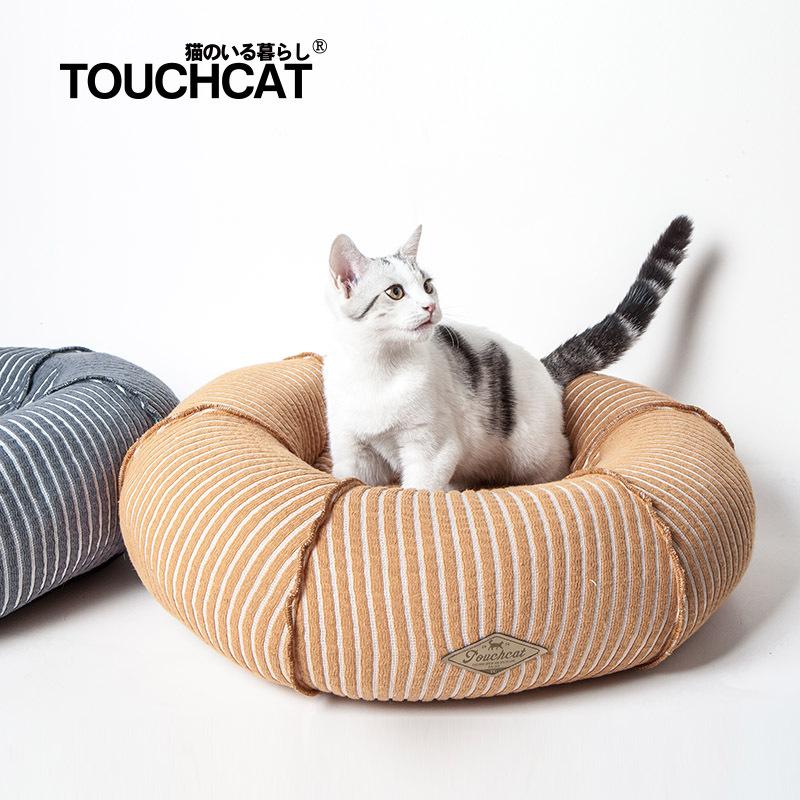 Nệm tròn cho chó mèo Touchdog