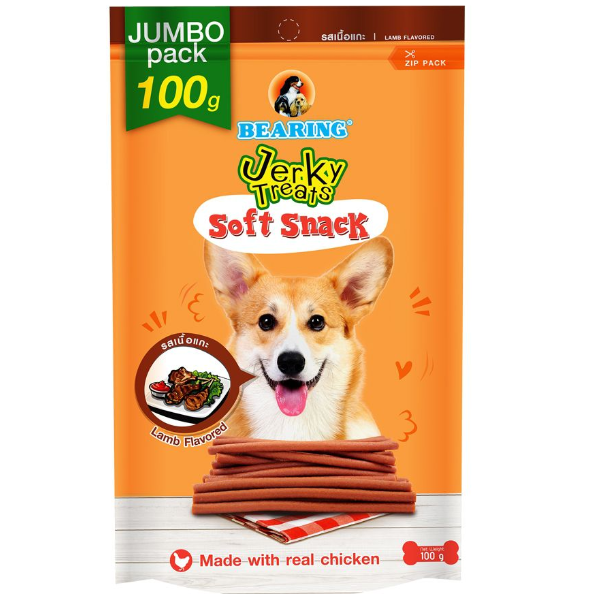 Bearing Jerky Treats Soft Snack Lamb 100g