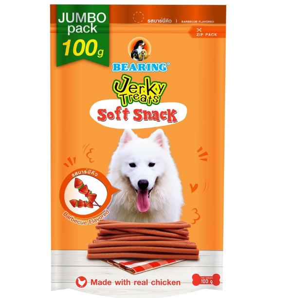 Bearing Jerky Treats Soft Snack Barbecue 100g