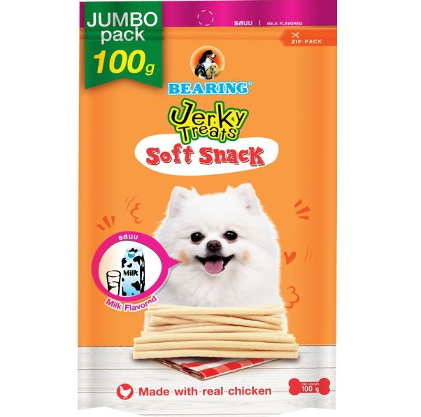 Bearing Jerky Treats Soft Snack Milk 100g