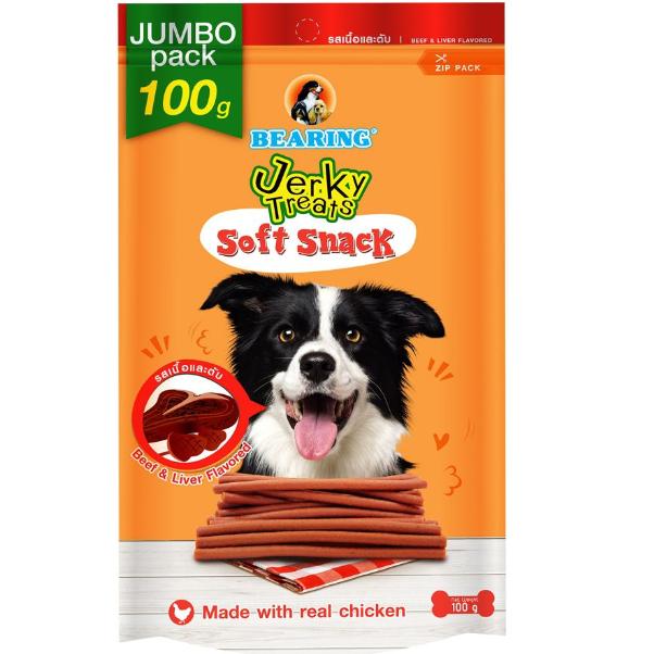 Bearing Jerky Treats Soft Snack Beef & Liver 100g