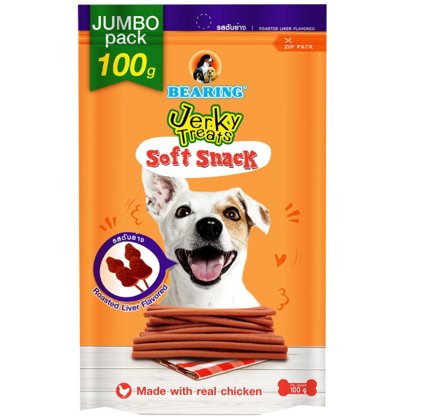 Bearing Jerky Treats Soft Snack Roasted Liver 100g