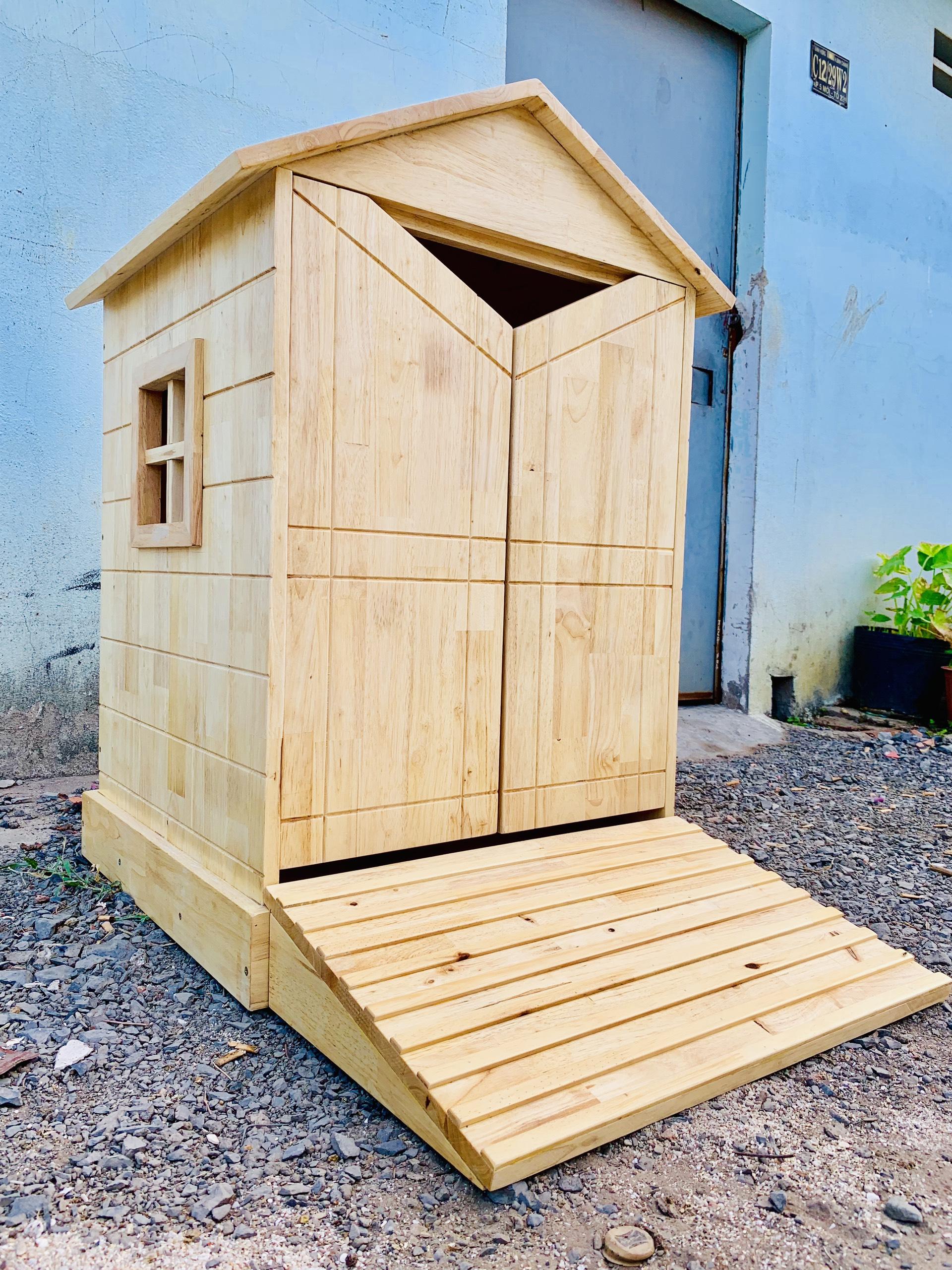 Nhà gỗ cho rùa (60x60x100)cm