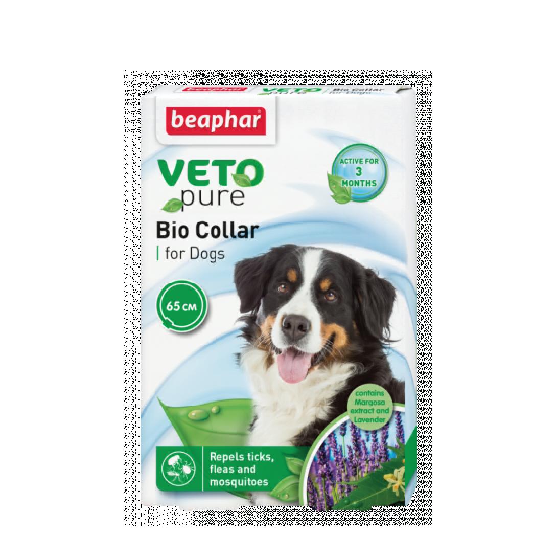 Vòng cổ ngăn ngừa ve cho chó Beaphar vetopure flea & tick collar bio green