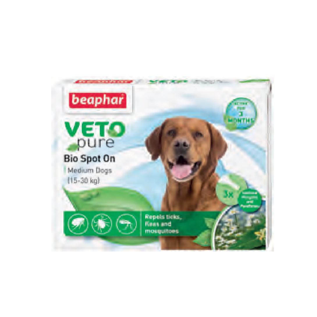 Nhỏ gáy ngăn ngừa ve cho chó Beaphar vetopure flea & tick spot on bio green