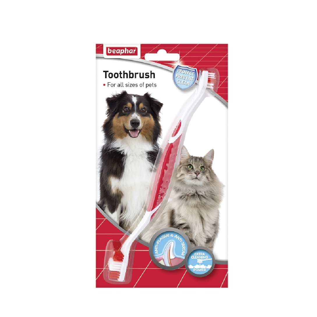 Bàn chải bánh răng hai đầu Beaphar toothbrush