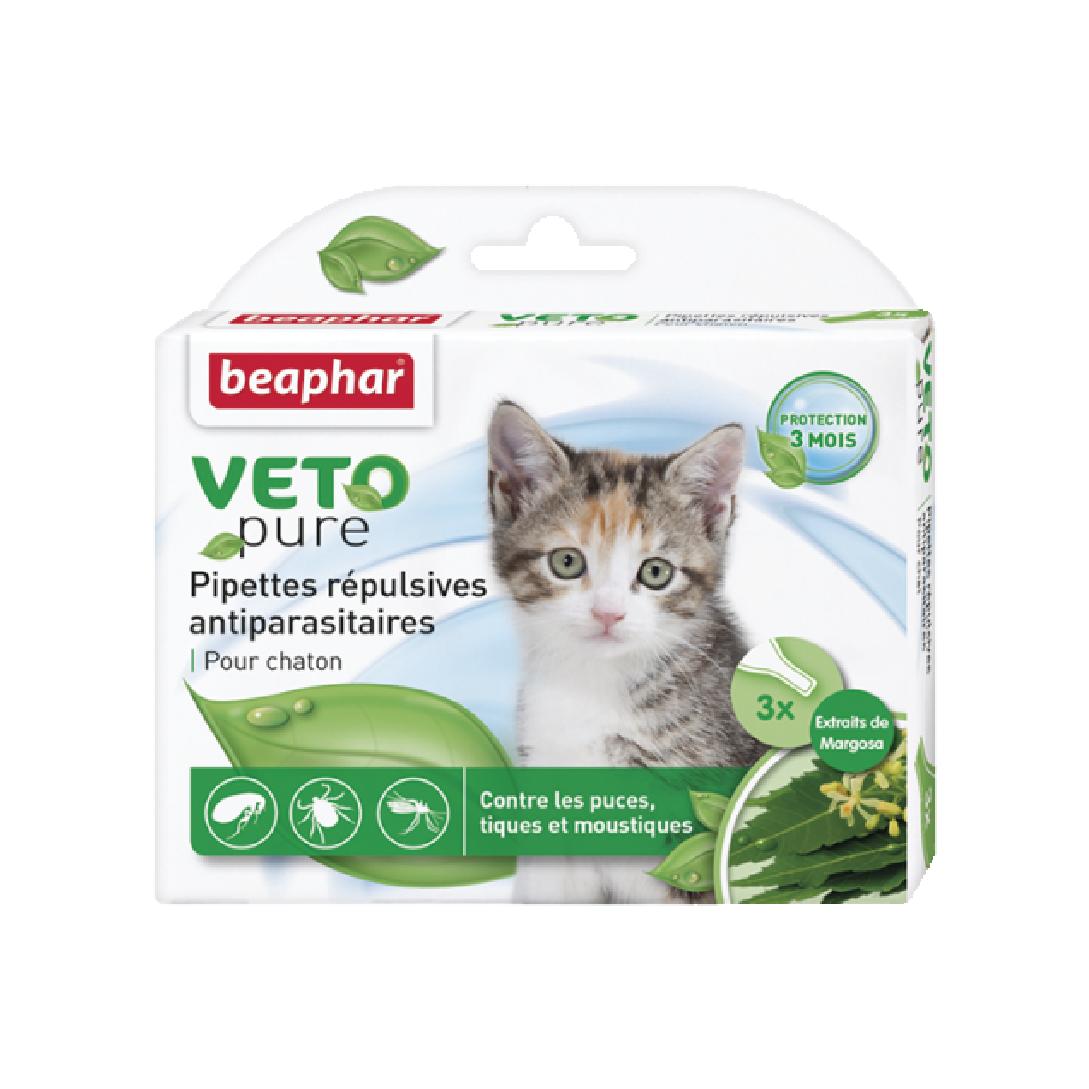 Nhỏ gáy ngăn ngừa ve cho mèo con Beaphar vetopure flea & tick spot on bio green