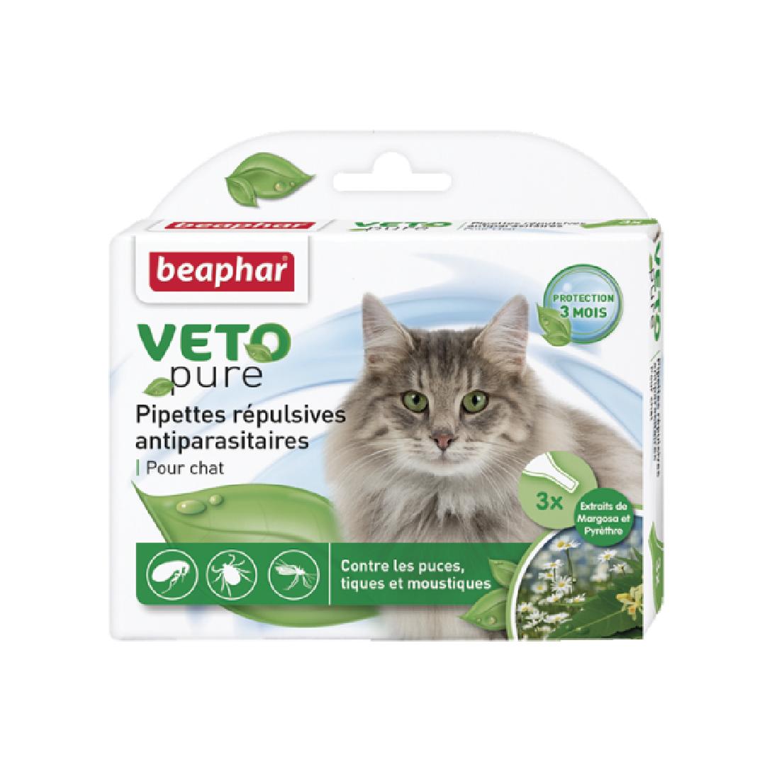 Nhỏ gáy ngăn ngừa ve cho mèo Beaphar vetopure flea&tick spot on bio green