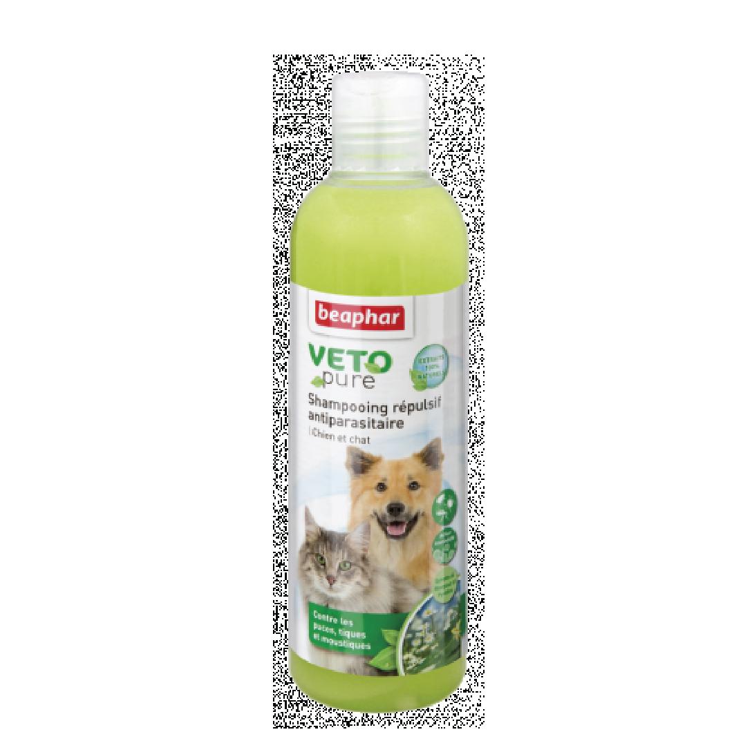 Sữa tắm ngăn ngừa ve cho chó mèo Beaphar vetopure flea&tick shampoo bio 250ml