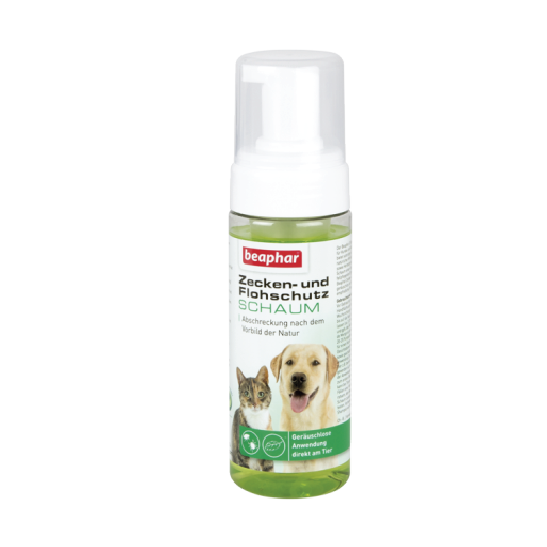 Bọt ngăn ngừa ve cho chó mèo Beaphar vetopure flea&tick foam bio 150ml
