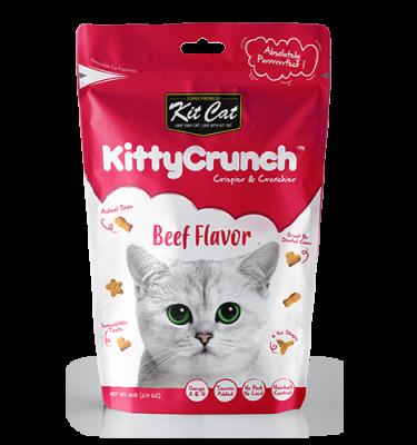 Snack Kit Cat Kitty Crunch vị bò 60g