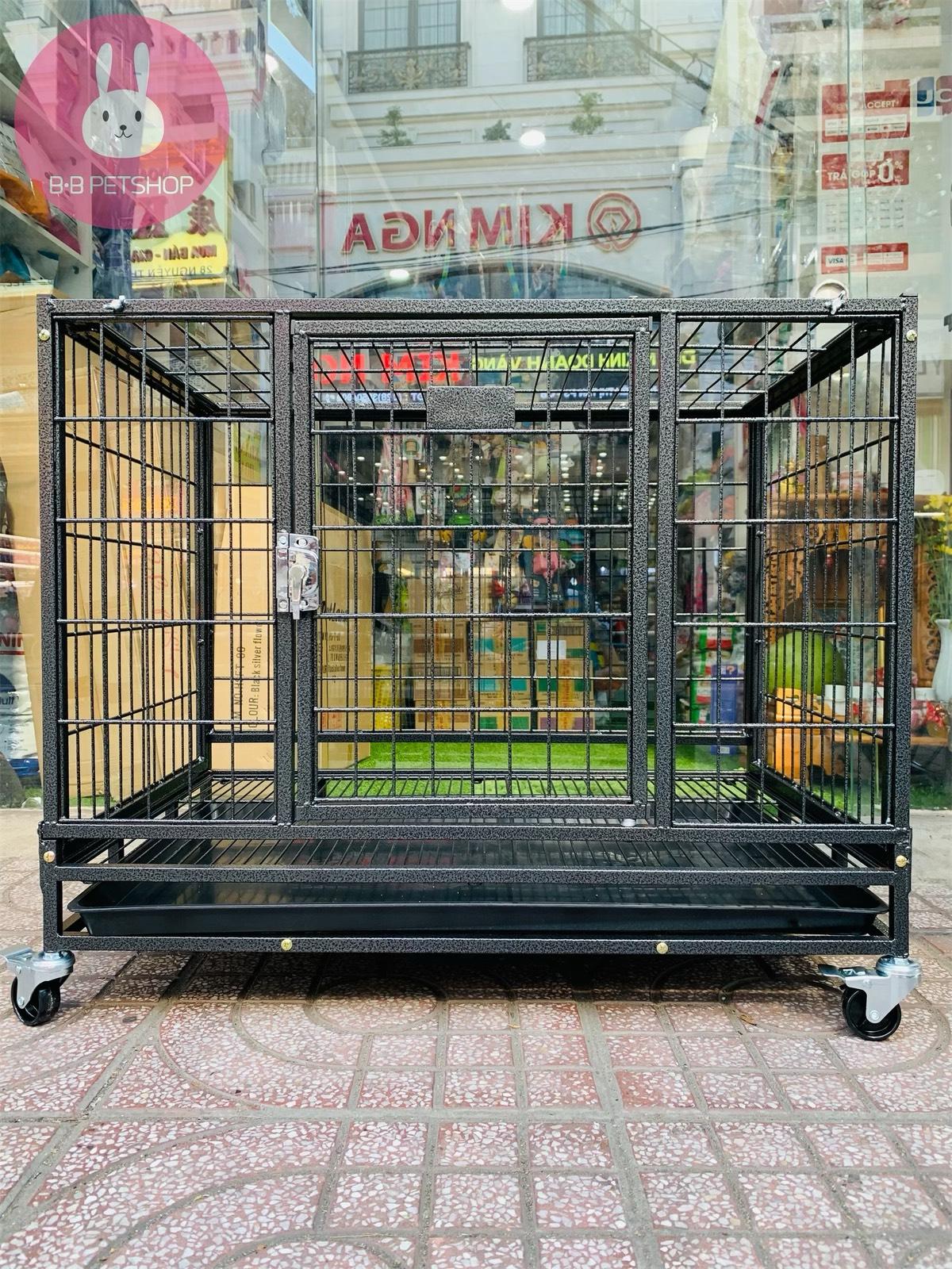 Lồng chó mèo lắp ráp sơn tĩnh điện HSFT-95 (93,5x63x81)cm