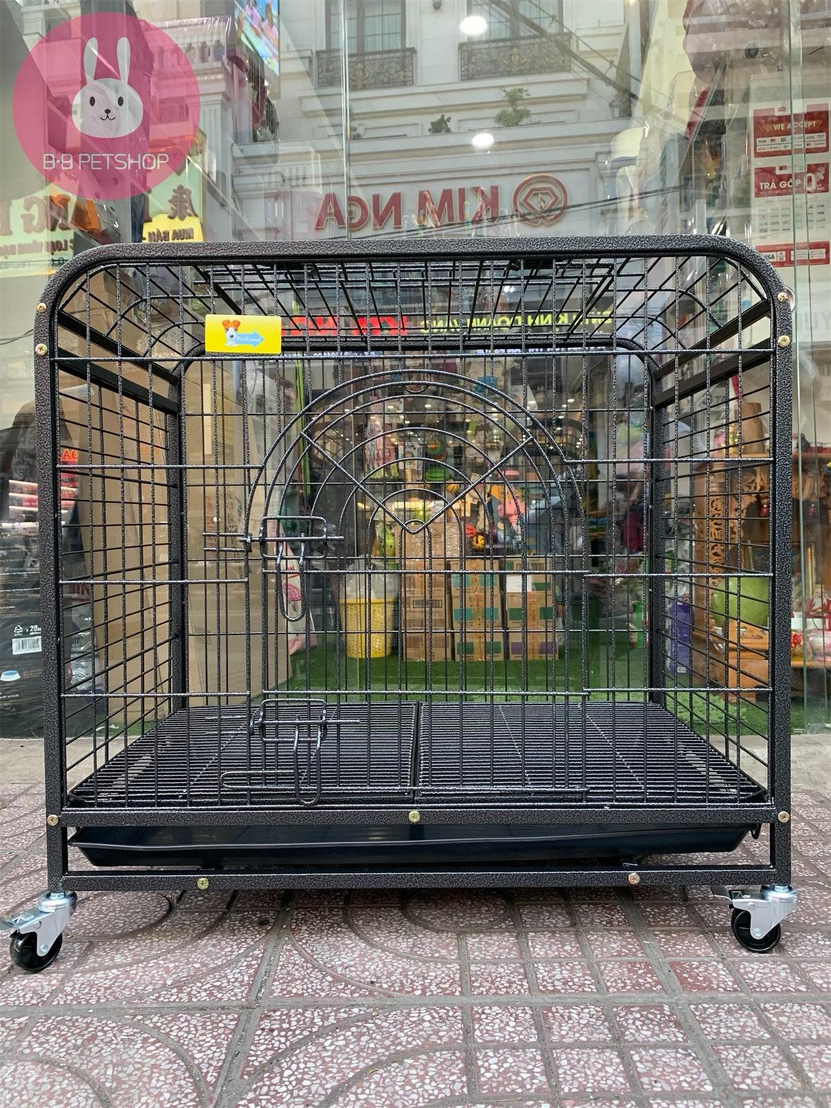 Lồng chó mèo lắp ráp sơn tĩnh điện HSFT D231A (93x58,5x73,5)cm