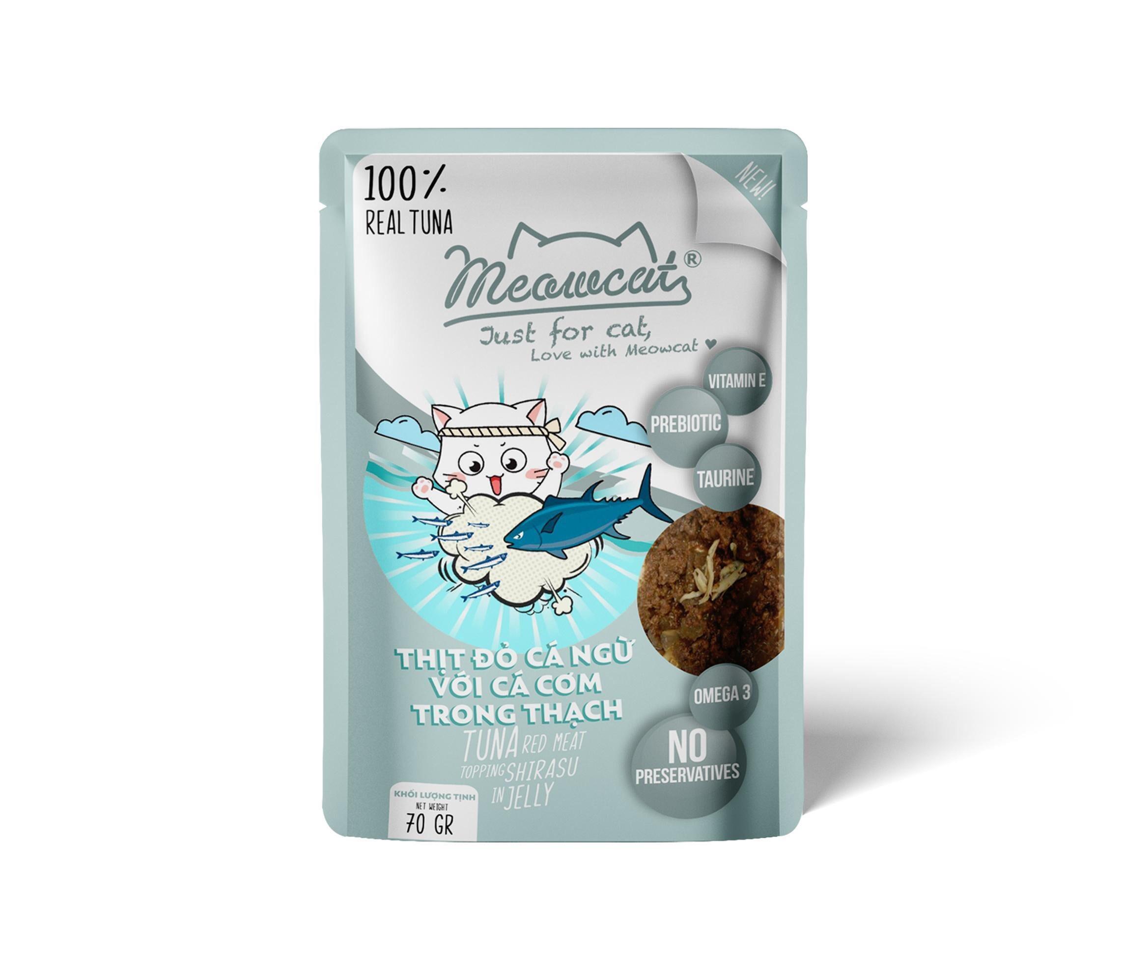 Pate Meowcat Tuna & Shirasu 70g